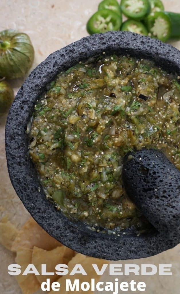 Salsa Verde de Molcajete